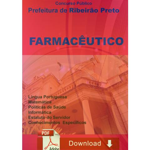 Apostila Concurso Farmacêutico Prefeitura Ribeirão Preto Donwload
