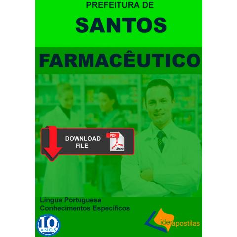 Apostila Farmacêutico Prefeitura de Santos - PDF