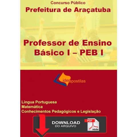 Apostila Professor Educação Básica I Peb I Araçatuba