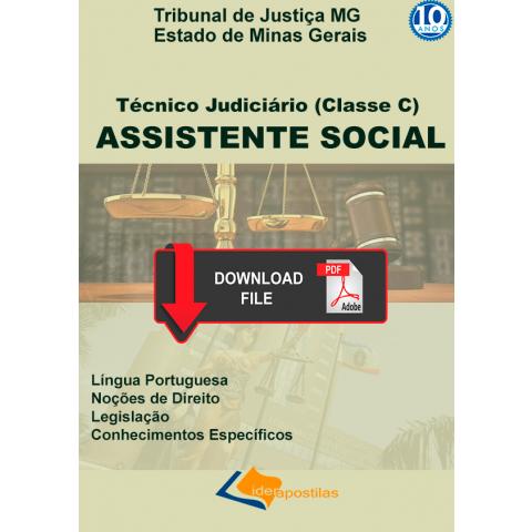 Apostila Assistente Social Judicial Tribunal Justiça MG Download