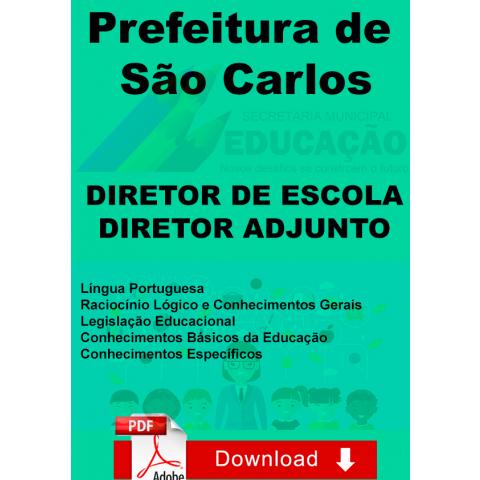 Apostila Diretor Escola e Adjunto Prefeitura São Carlos