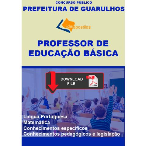 Apostila Professor Educação Básica de Guarulhos - digital