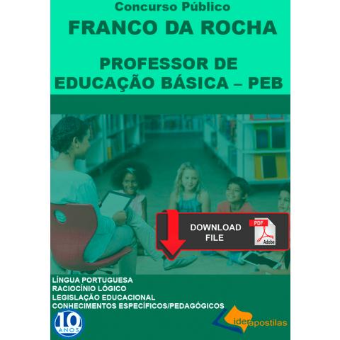 Apostila Professor Educação Básica  Peb Franco da Rocha - digital