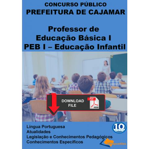 Apostila Professor Educação Básica I Infantil - Cajamar