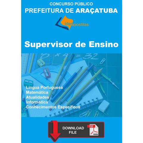Apostila Supervisor Ensino Prefeitura Araçatuba Download