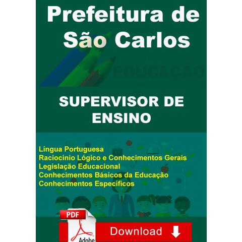 Apostila Supervisor Ensino Prefeitura São Carlos Digital