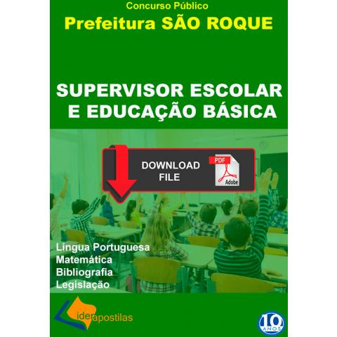 Apostila Supervisor Escola Educação Básica de São Roque PDF.