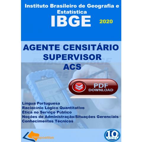 Agente Censitário Supervisor Ibge