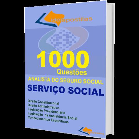 Apostila 1000 Questões Analista do Serviço Social - INSS 2016