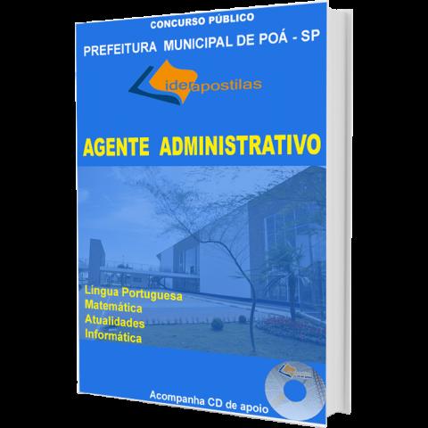 Apostila Agente Administrativo - Prefeitura de Poá