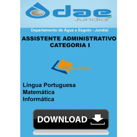 Apostila Assistente Administrativo Categoria I - DAE Jundiaí Donwload