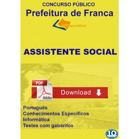 Apostila Assistente Social Prefeitura de Franca - download