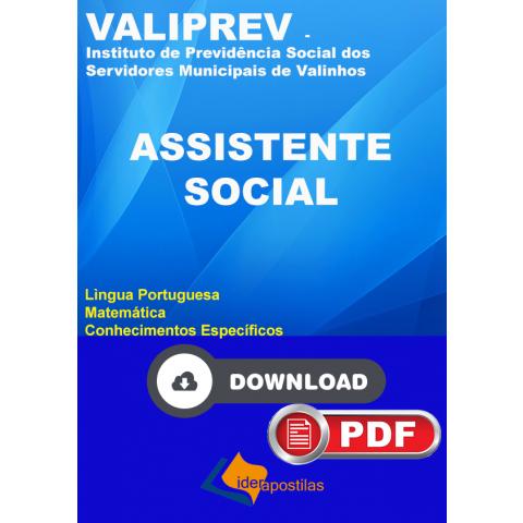 Apostila Assistente Social Valiprev Valinhos Download