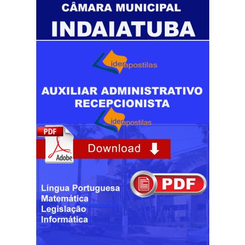 Apostila Auxiliar Administrativo e Recepcionista - Indaiatuba