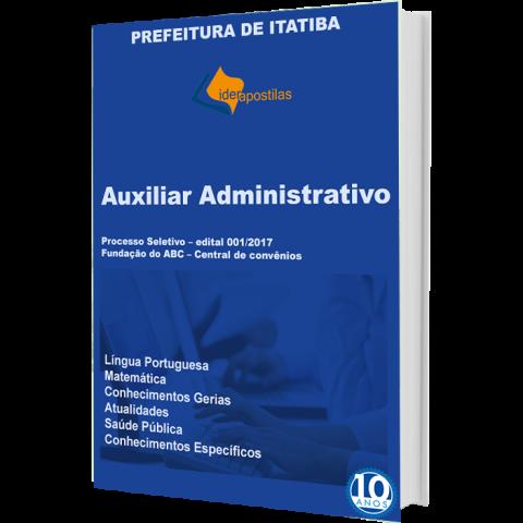 Apostila Auxiliar Administrativo Prefeitura de Itatiba