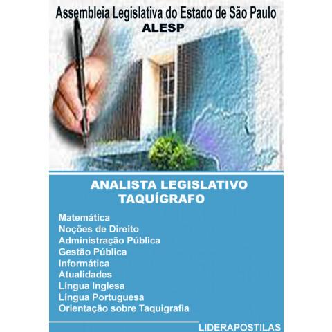 Apostila Concurso Analista Legislativo Taquígrafo Assembléia Legislativa SP - ALESP