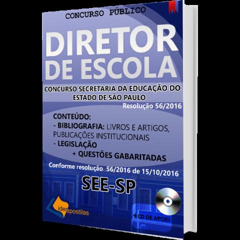 Apostila Concurso Diretor de Escola SEE - Secretaria Educação de São Paulo