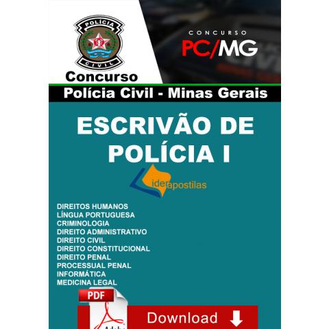 Apostila Concurso Escrivão I Polícia Civil Minas Gerais - Donwload