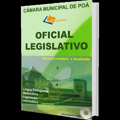 Apostila Concurso Oficial Legislativo Câmara Municipal de Poá