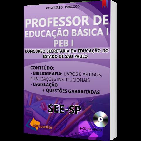 Apostila Concurso Peb I - Professor Educação Básica I - SEE  SP  2018 - impressa