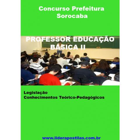 Apostila Concurso PEB II Professor de Educação Básica II Prefeitura Sorocaba