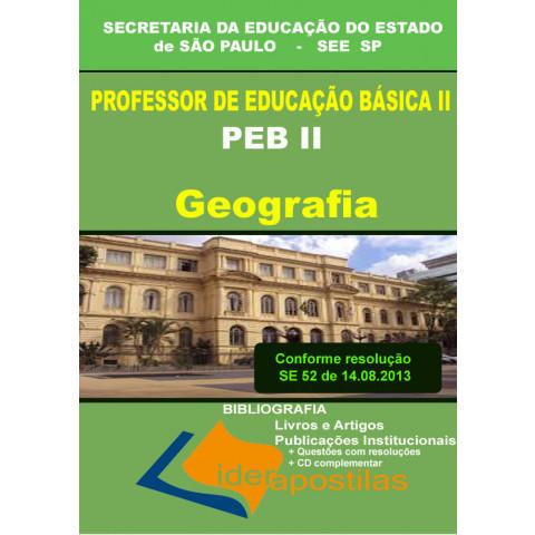 Apostila Concurso Professor Peb II Geografia  SEE SP  Secretaria da Educação