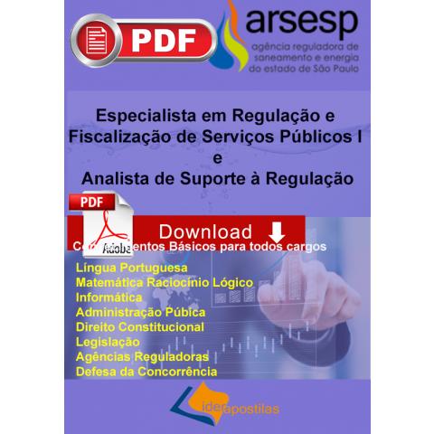 Apostila  Conhecimentos Básicos ARSESP Agência Reguladora SP Download