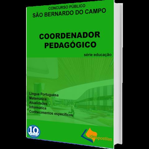 Apostila Coordenador Pedagógico S Bernardo do Campo - impressa