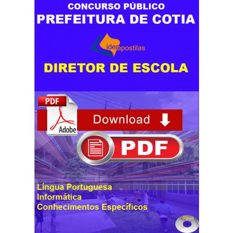 Apostila Digital Diretor de Escola Prefeitura Cotia - Download
