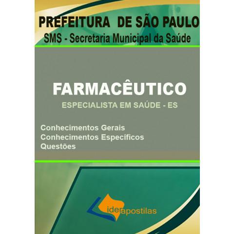 Apostila Farmacêutico - Especialista em Saúde - Prefeitura de São Paulo