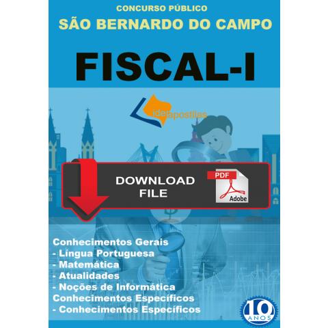 Apostila Fiscal I da Prefeitura S Bernardo do Campo Download