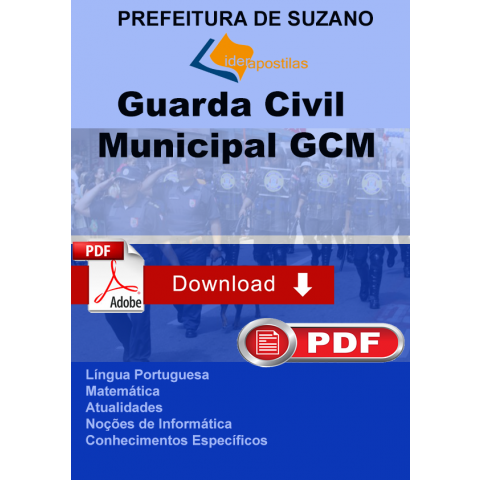 Apostila Guarda Civil Municipal - GCM Suzano 2018 DOWNLOAD