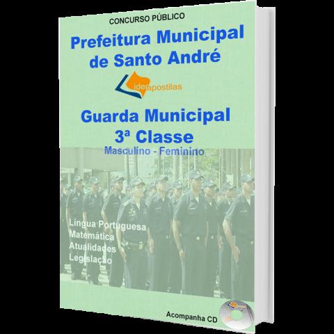 Apostila Guarda Municipal 3ª Classe  Fem.Masc Prefeitura de Santo André