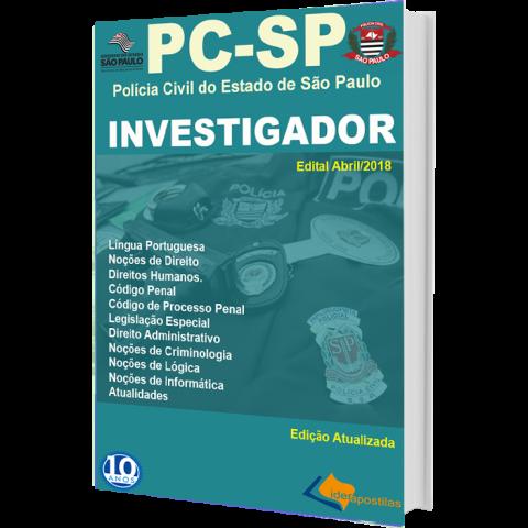 Apostila Investigador da  Polícia Civil SP 2018
