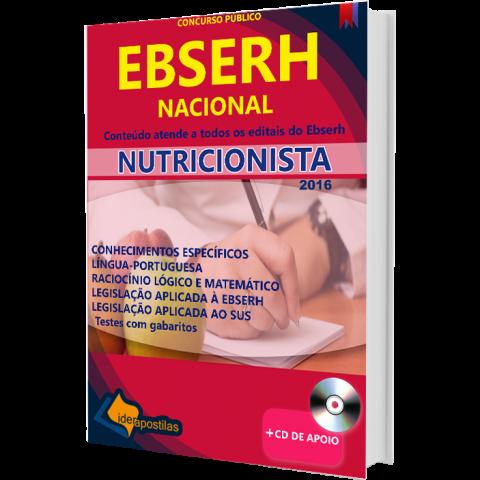 Apostila Nutricionista Ebserh  Nacional 2018 para todos os Estados