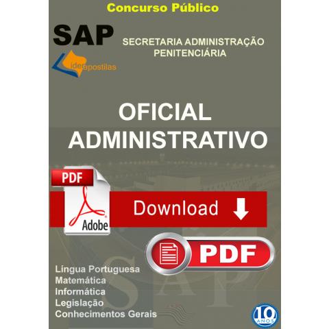 Apostila Oficial Administrativo Administração Penitenciária SAP Download