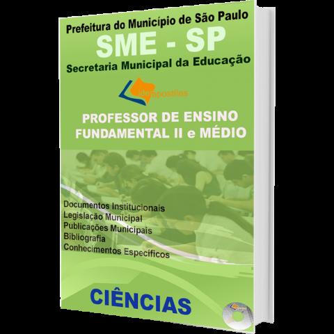 Apostila Professor de Ensino Fundamental II e Médio Ciências - Prefeitura de São Paulo - edição 2016