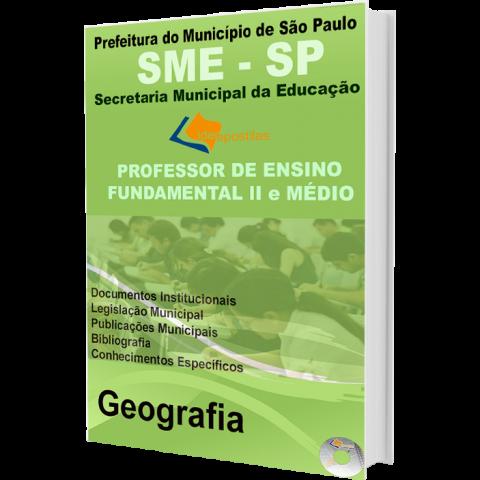 Apostila Professor de Ensino Fundamental II e Médio Geografia  - Prefeitura de São Paulo - edição 2016