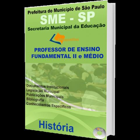 Apostila Professor de Ensino Fundamental II e Médio História  - Prefeitura de São Paulo - edição 2016