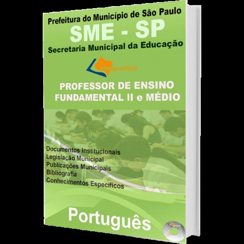 Apostila Professor de Ensino Fundamental II e Médio Português - Prefeitura de São Paulo - edição 2016