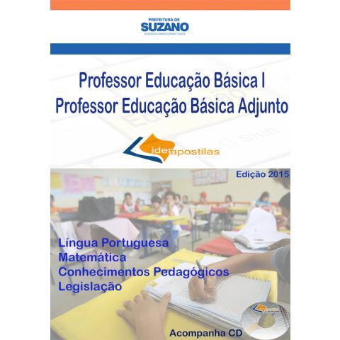 Apostila Professor Educação Básica  Adjunto de Suzano
