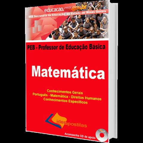 Apostila Professor Educação Básica de Minas Gerais - PEB – Matemática