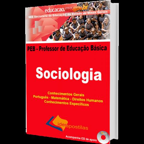 Apostila Professor Educação Básica de Minas Gerais - PEB –  Sociologia