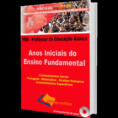 Apostila Professor Educação Básica  SEE MG - PEB – Anos Iniciais do Ensino Fundamental