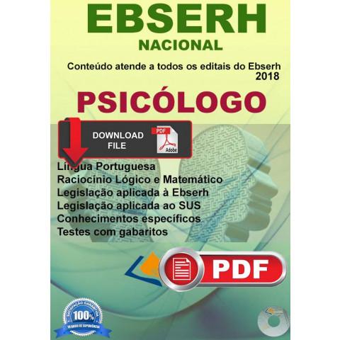 Apostila Psicólogo Concurso Ebserh - Download