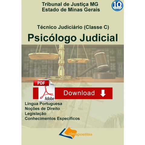 Apostila Psicologo Judicial Tribunal Justiça MG - Download