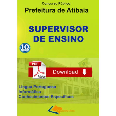 Apostila Supervisor de Ensino Prefeitura de Atibaia - Download