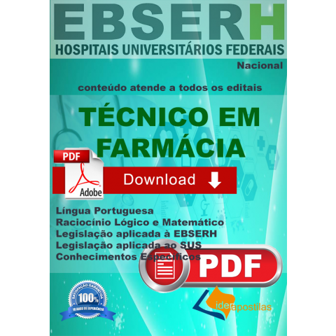 Apostila Técnico Farmácia Ebserh - Download
