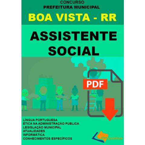 Apostila Assistente Social Prefeitura de Boa Vista - RR. digital.