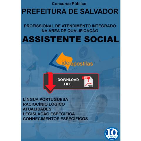 Assistente Social Salvador apostila
